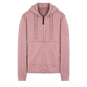 TOP 18FW 60220 ZIP HOODED SWEATSHIRT TOPST0NEY Men Women Hooded Sweatshirts Fashion Hoodies HFLSWY308
