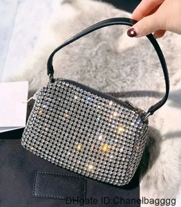 Quality High 2020 WANG Designer hobo tote Women crystal diamond Handbags Famous Chain Shoulder Bags Crossbody Soho Disco Bag