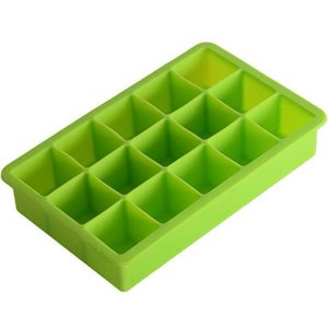 15 Lattice Portable Square Cube Chocolate Candy Jelly Mold DIY Ice Cube Mold Square Shape Silicone Ice Tray Fruit Lattice BWE3118