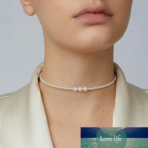 Baroque Pearl Chokers Collar Imitación de alta calidad Pearl Nasmyjnik Mujer Damas Joyas Altas Joyas Bohemia Femme Gargantilla