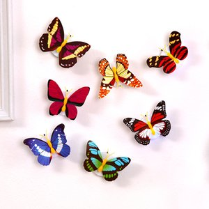 Colorful Light Butterfly Wall Stickers Easy Installation Night light LED Lamp Home living Kid Room Fridge Bedroom Decor Kimter-X927FZ