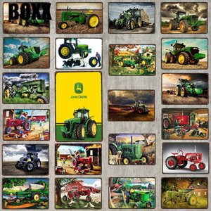 Tractor Sign Vintage Signs Metal Plate Tin Sign Wall Stickers Garage Home Art Country Farmhouse Decor