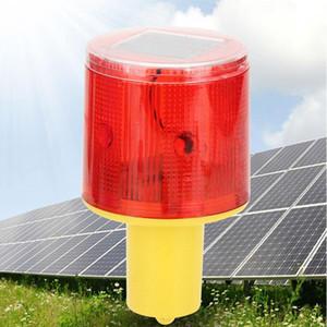 Güneş LED Kırmızı Acil Işık Flaş Gösterge Lambası Trafik Kulesi Beacon Emniyet Sinyali