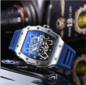 2020 Новая горячая мода Miller мужские часы повседневные полые силикагель с кварцевым с кварцем с призрак головной сверл часы военные водонепроницаемые часы