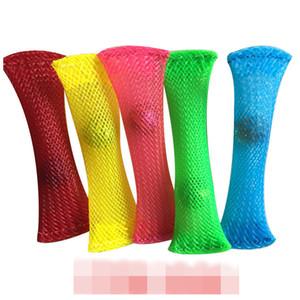 XMY 1PCS 스트레스 릴리프 장난감 유리 구슬 감압 장난감 짠 그물 튜브 릴리프 손 Fidget 장난감