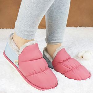 Chinelos Inverno Feminino Casa Sapatos Pelcia Senhoras Sliders Pele Интерьер Chinelo Femme Warter Pantuflas de Mujer