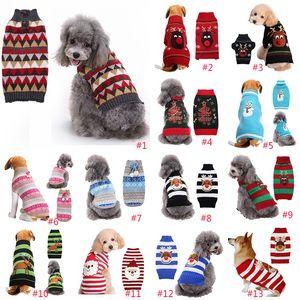 Рождественские собаки одежда собака плющая одежда Санта-Клаус лось снеговика печатать полосатый домашняя одежда рождественские украшения падение доставки XD24285