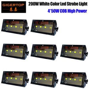 Discount Price 8 units 200W White Color Stage Professional Led Strobe Light COB White Color Flash Light Support Full Color On Par Light