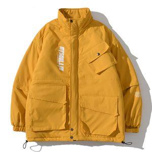New Multi-Pocket Tooling Coat Men Women Streetwear Jacket 2021 Winter Harajuku Jackets9KZ6