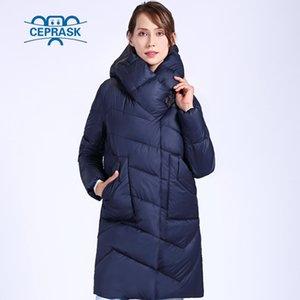CEprask New Quality Winter Jacket Mulheres Plus Size Long Women's Grosso Parka Algodão Casaco de Inverno Com Capuz Aquecer JAC 201030
