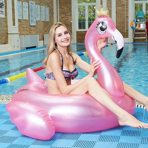 Inflatable Flamingo Swimming Ring Adults Children Floating Circle Water Seat Summer Beach Holiday Party Pool Toys For Woman Z1202
