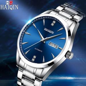 2020 New HAIQIN Men's business watch men watch automatic mechanical male wrist waterproof relogio masculino