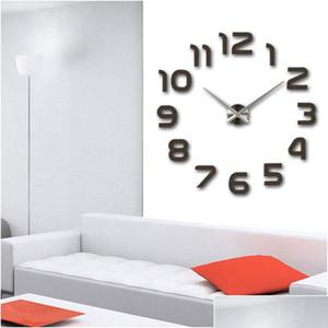 New Design Clock Watch Wall Clocks Horloge 3d Diy Acrylic Mirror Stickers Home Decoration Living Room Quartz Ne sqcvzZ wphome
