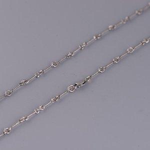 Ketten FNJ 2.5mm Link Kette Halsketten 925 Silber 50 cm bis 65 cm Original S925 Thai Frauen Halskette