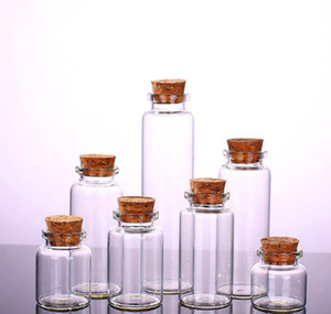 clear glass bottle with corks vial glass jars pendant craft projects diy for keepsakes 30mm diameter