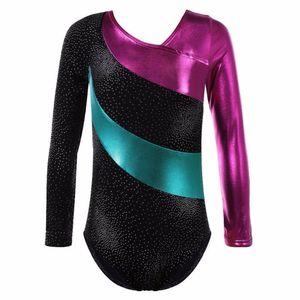 EFINNY Kids Girls Ballet Spring Long Sleeves Dance Leotards Ballet Tutu Gymnastics Leotards Professional Dancewear