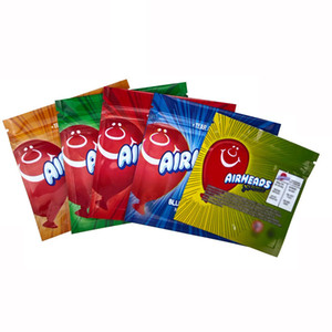 AIRHEADS Mylar Bag Package Edibles Pouch Empty 400 408MG Bags 5 Design Airheads packaging bags free shipping