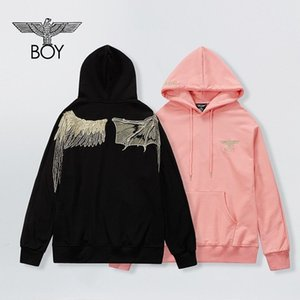 European and American new fashion brand hot stamping leisure Hooded Sweater men and women couples loose long sleeve coa