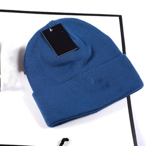 Unisex Embroidered Beanies Letters Winter Knitted Label Cap For Woman Warm Solid Color Men Custom Acrylic Outdoor Bonnet Hat