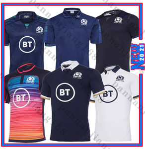 Schottland 2021 Rugby Jesery Home National Team Scotland Polo T-Shirt Rugby Jerseys Herrenhemden Größe S-5XL