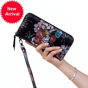 Nuleez portefeuille femme femme de luxe gravure floral porte-monnaie long classique et élégant nouveau cadeau de style pour elle
