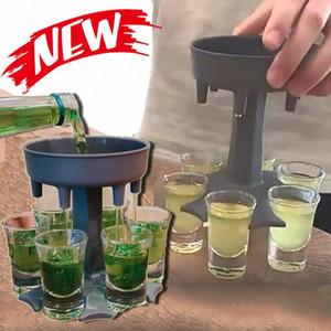6 الرصاص الزجاج موزع حامل النبيذ ويسكي البيرة موزع الرف بار الملحقات العلبة الخمور موزع حزب ألعاب أدوات الشرب