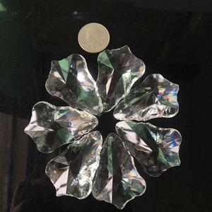 5pc 50 mm Clear SunCatcher Colgante Árbol Facetado Hoja Cristal Chandelier Artesanía Prisma Colgante Ornamento Fengshui XMS H BBYANM
