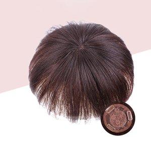 Nouvelles femmes véritables cheveux vrais fermetures de cheveux Extensions de cheveux Pièce de rechange pour petite zone Couvrir la pièce de remplacement des cheveux blancs femme