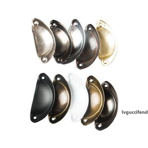Vintage Cabinet Knobs and Handles Cupboard Door Cabinet Drawer Furniture Antique Shell Home Handles Pulls Free DHL HH7-2041