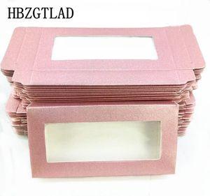 Wholesale 100 200pcs Packing box for eyelash blank eyelashes package soft paper box Eyelashes DIY flash pink packing makeup