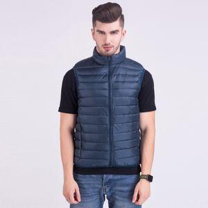 2020 light down jacket men's short stand collar horse Down jack light clip waistcoat