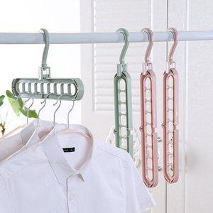 تنظيم تخزين المنزل الملابس شماعات تجفيف الرف البلاستيك وشاح الملابس الشماعات تخزين رفوف خزانة خزانة شماعات