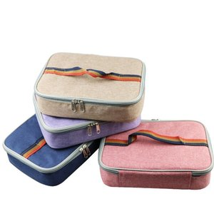 Heat Preservation Bento Handbags Four Colors Oxford Cloth Sealed Insulated Coolers Pockets Eco Friendly Aluminum Foil Foods Organizer Hot Se