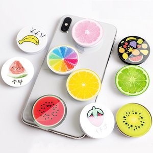 Quicksand Fruits Rainbow Expanding Stand Mount Phone Fold Mobile Smartphones Pocket Desktop Bracket Phone Stand Holder