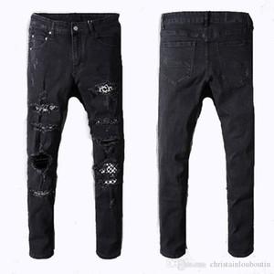 2021 Mens Designer Jeans Distressed Ripped Biker Slim Fit Motorcycle Biker Denim For Men s Fashion Top Quality Brand New Style men jeans