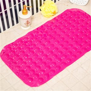Bath Mats Anti-slip Massage Mat 35*65cm Bathroom Pierced PVC Safe Pad With Suction Cups Bath Non-Slip Mat Bathroom Accessories E 40 K2