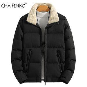 Chaifenko ماركة الرجال سترة 100٪٪ الشتاء الدافئ سترة معطف رجالي عارضة مقنعين سستة سميكة معاطف أسفل باركاس زائد الحجم M-8XL 201120