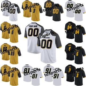 Mizzou Missouri Tigers College Футбол Футбол Футбол Шон Робинсон Джерси Джонатан Нэнн Альберт Okwuegbunam Damarea Crockett Custom