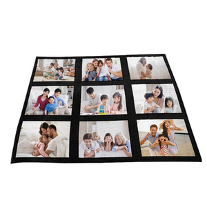 125*150cm Sublimation Thermal Fleece Blanket Heat Print Fabric Plush Mat Diy Blank Carpet 9 15 20 Grids Plaid Bla wmtzIg mywjqq