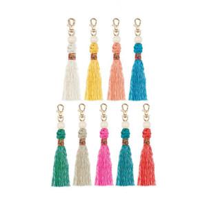 1 unids moda cuentas de madera borlas bricolaje joyería cortina ropa decorativos accesorios llavero bolso colgante artesanía borlas H jlnwg