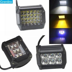 4''72w 60w carro de carro de carro 36W LED luzes de nevoeiro para carros de caminhões LED Work Light Bar para Off Road SUV Barco 12V 24V
