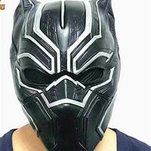Masque Noire Panther Masque Masque Fantastic Foire Fantastique Masque de fête en latex de Cosplay pour Halloween L420