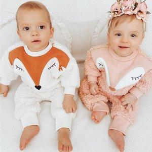 Zafille Baby Winter Ropa Set 2021 NUEVO Ropa de zorro tímido para Baby Girl Dibujos animados Bebé Bebé Trajes de coral Fleece Recién nacidos F1210