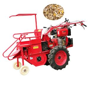 2020 sıcak satış paslanmaz çelik el itme küçük mısır biçerdöver dizel motor mini mısır toplayıcı mısır hasat