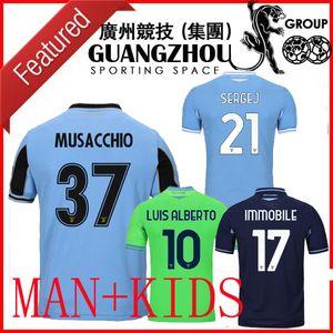 20 21 Lazio Pug League Soccer Tribers выездные Мусаччио 37 третий 2020 2021 футбольные рубашки Специальные Луис иммобиль для детей Kids Kits Maglia Da Calcio