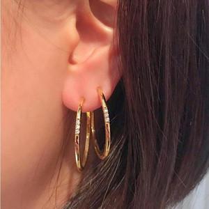 Donne Party Party Classic Crystal Gem Orecchini Fashion Round Geometric Gold Pendant Hoop orecchini gioielli accessori gioielli