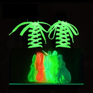 Hot Sale 1 Pair Luminous Shoelaces Flat Sneakers Canvas Shoe Laces Glow In The Dark Night Color Fluorescent Shoelace 80 100 120 140cm