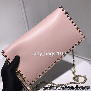 Newset Studs Rivet Plaid Clutch Women Handbags purse Shoulder Messenger bags Chain Crossbody Straps Envelope bag