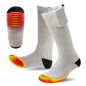 Upgrade Electric Heated Socks Boot Feet Warmer USB Rechargable Battery Sock Warm Warming Thermal Sock Sports Socks Sportswear