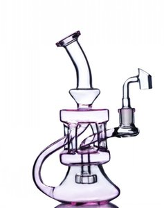 비커 봉수 파이프 리사이클러 오일 굴착기 Heady Glass Water Bongs 액세서리 연기 파이프 물 담뱃대 Chicha 8.2 인치